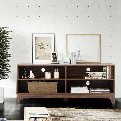 """58"""" TV Cabinet Stand w/Storage Walnut"""