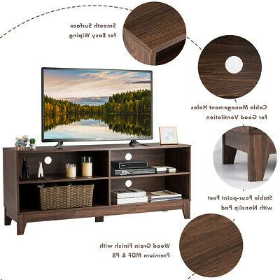 """58"""" TV Cabinet Wooden Stand Console Center w/Storage Space"""