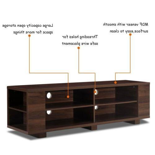 "59"" Console Entertainment Center Media Wood Storage Cabinet"