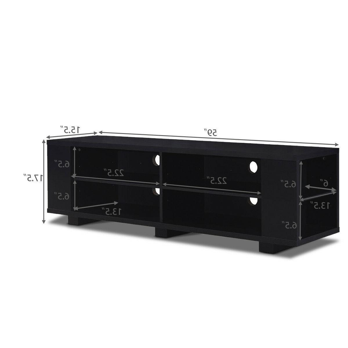 "59"" Wood Console Storage Center w/ Adjustable"