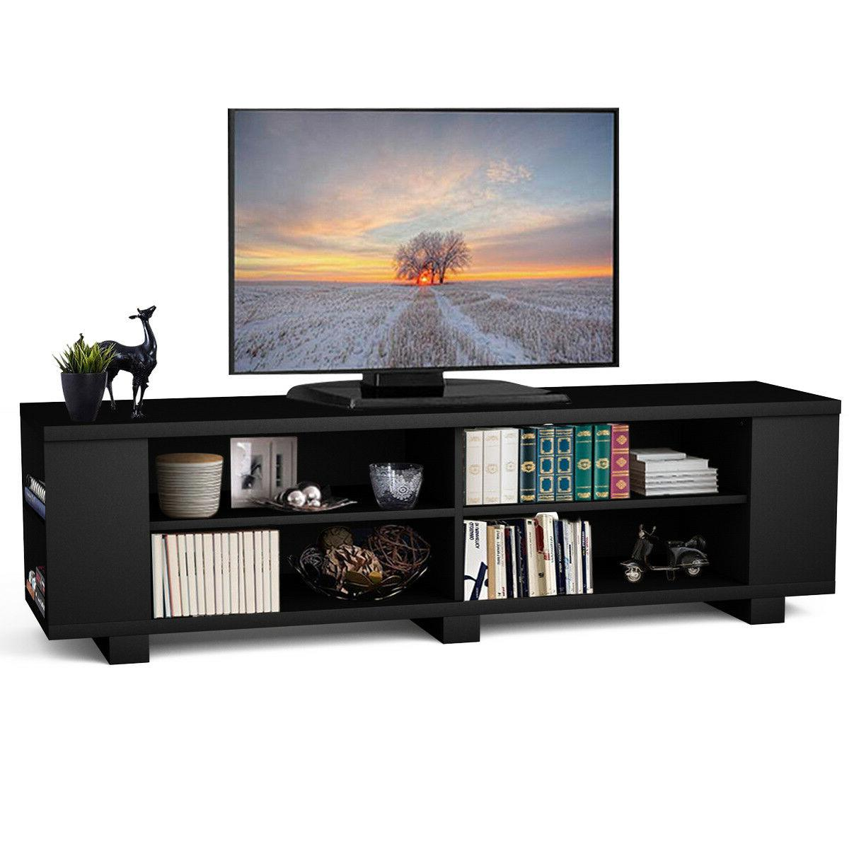 59 wood tv stand console storage entertainment