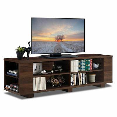 "59"" Wooden TV Stand Adjustable Entertainment Media Center Li"