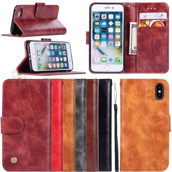 5classical retro wallet leather stand flip covers