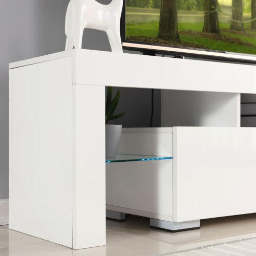63'' Stand Entertainment Unit Cabinet LED Shelves