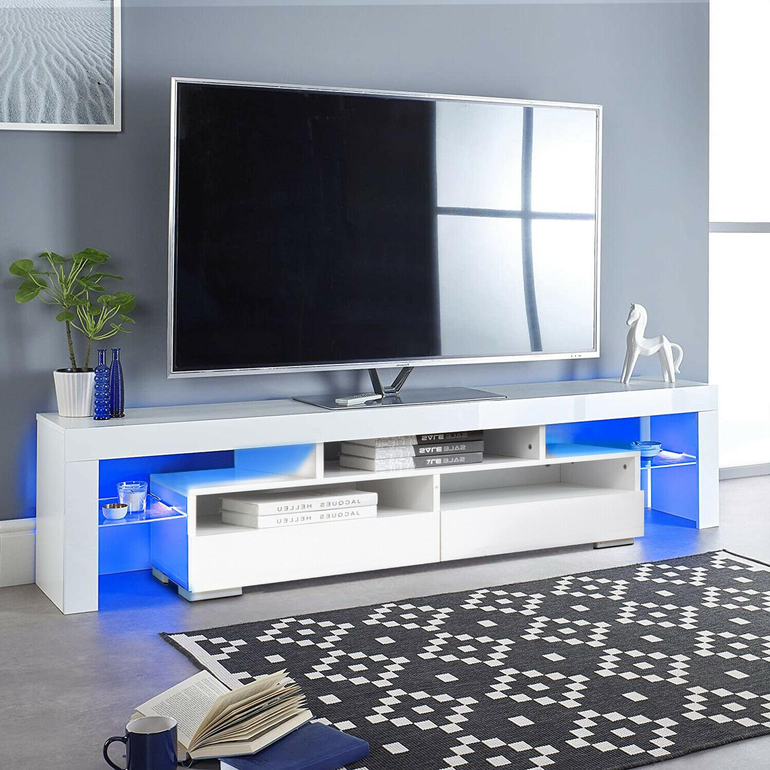 63 tv stand unit cabinet console table