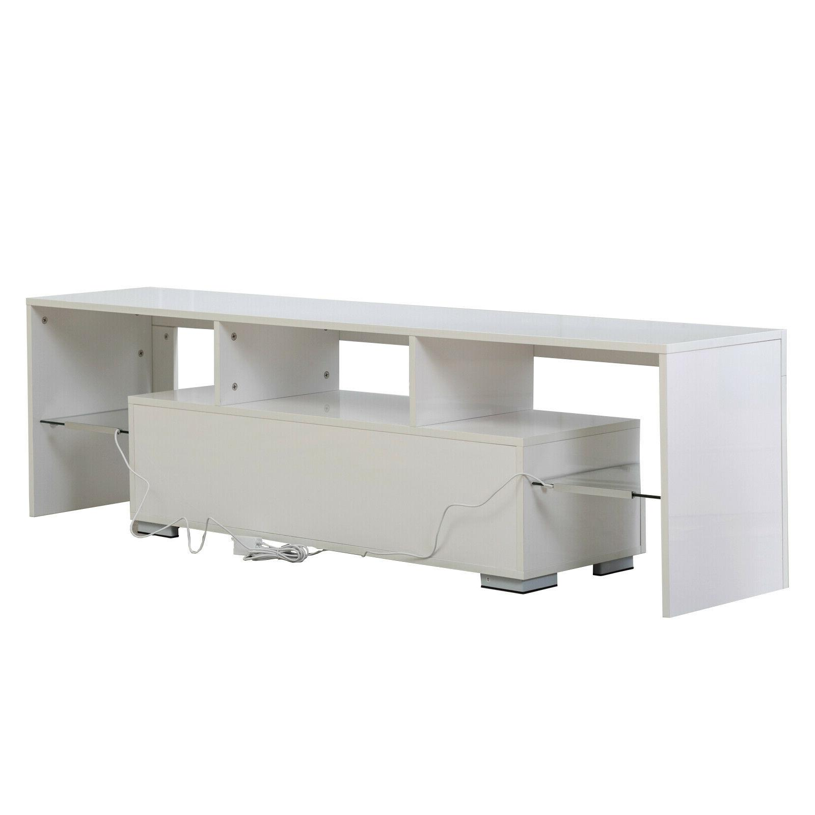 "63"" Unit Cabinet with 2 Drawer Console White"