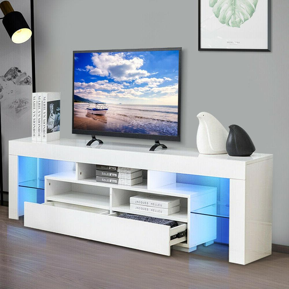 63 tv stand unit cabinet with led