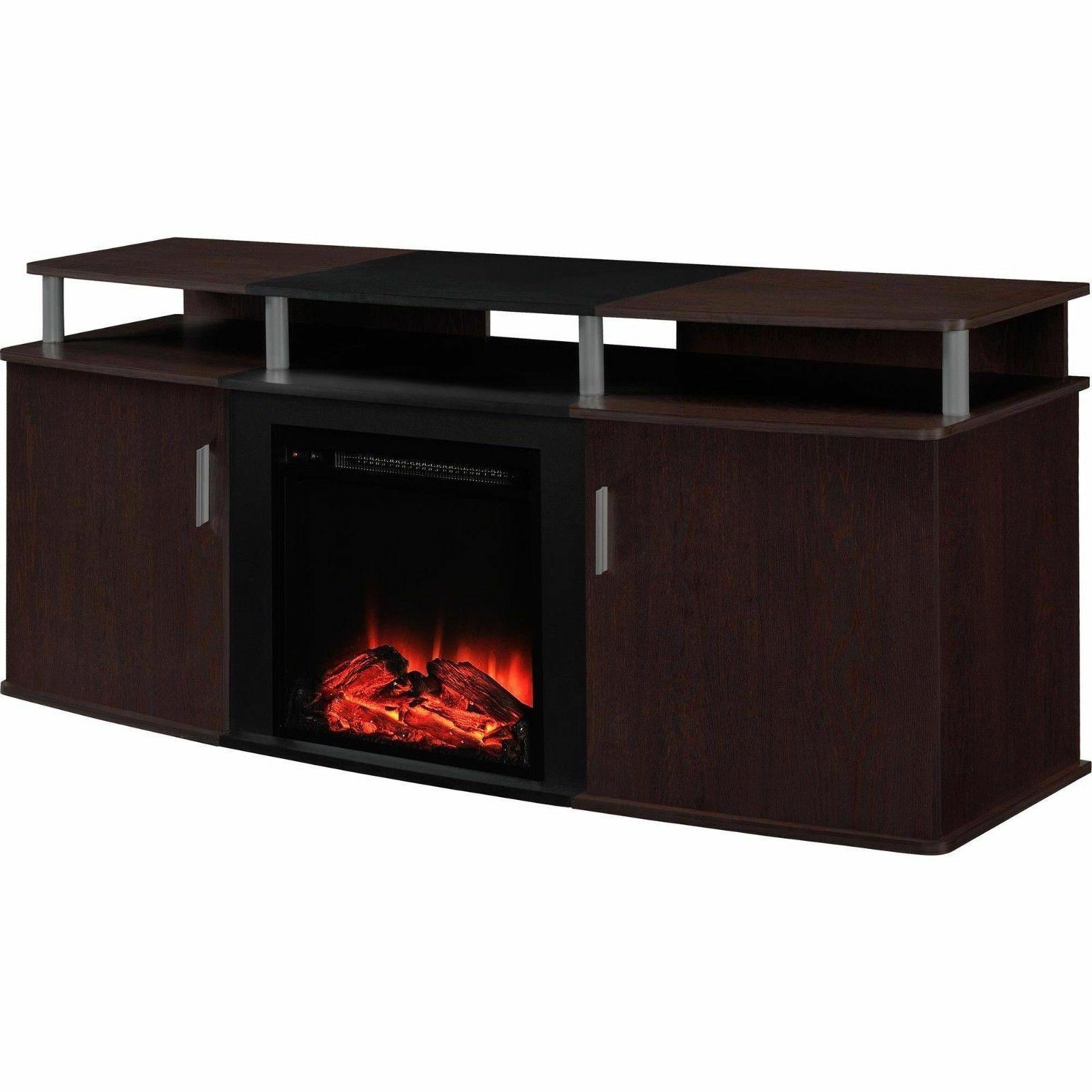 65 Inch TV Stand Fireplace Electric Heater BTU Storage Console