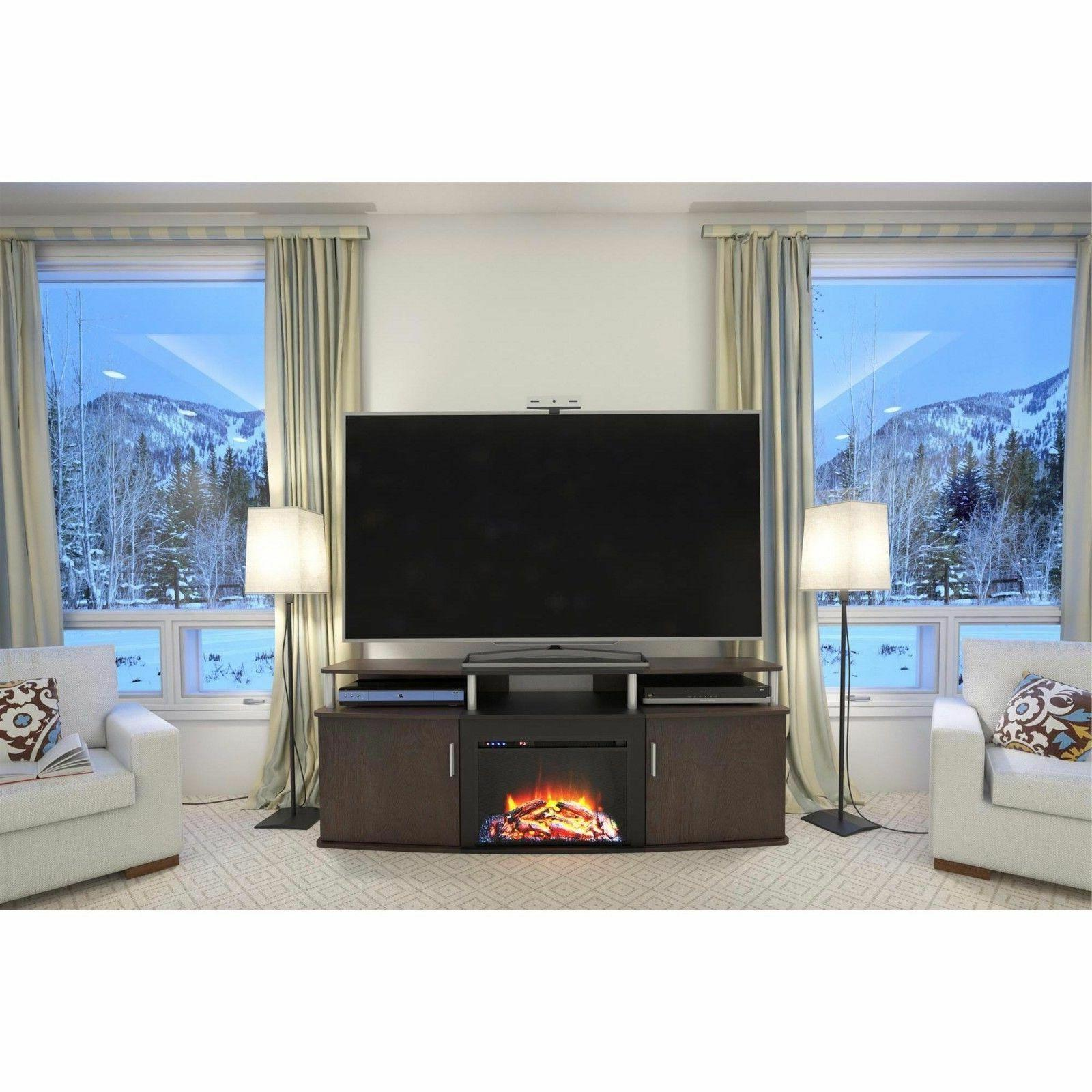 65 Fireplace Electric BTU Storage Console