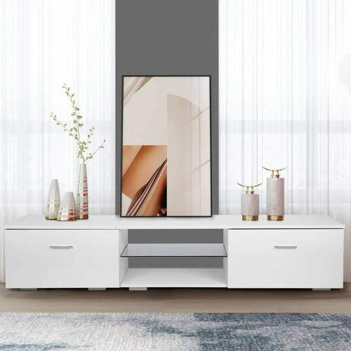 65 '' Living Room TV Stand 2 Storage Cabinet Media Console O