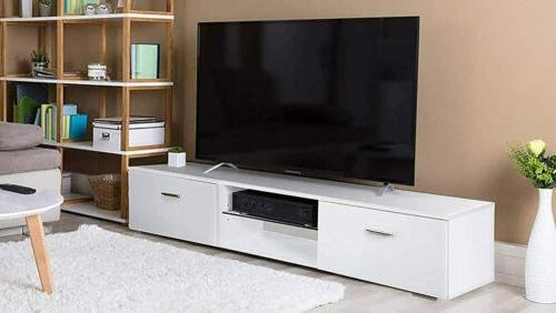 65 tv stand cabinet media console organizer