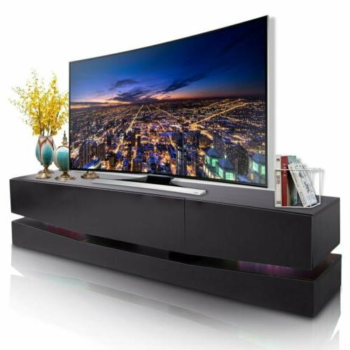"""70"""" TV High Gloss Cabinet w/LED Shelves 3 HM"""