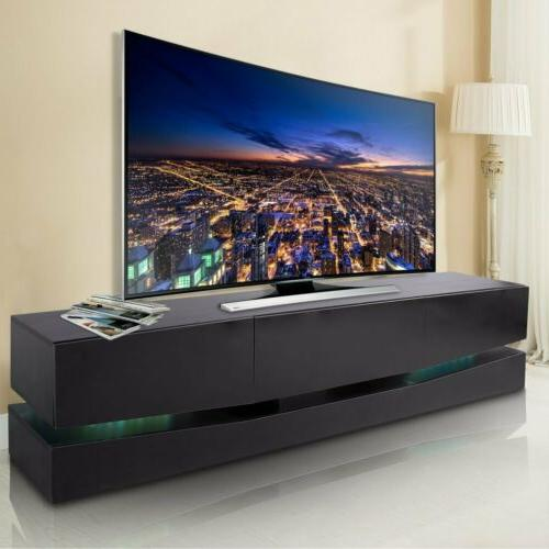 "70"" Arc-Shaped High Cabinet w/LED 3 Drawers HM"