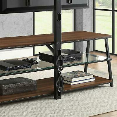 70 Inch TV Stand Stands For Screens Swivel Mount Media Center