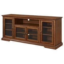 70 Wood Highboy TV Stand Rustic Brown