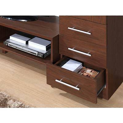 71.6'' Modern Center TV Stand w/Multiple Storage Spaces