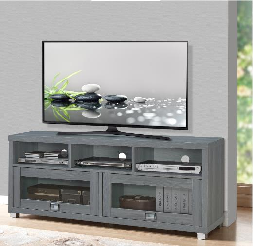 75-Inch TV Stand For Flat Screen Television 3 Shelves Media