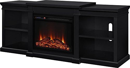 Ameriwood Home Fireplace TV for Black