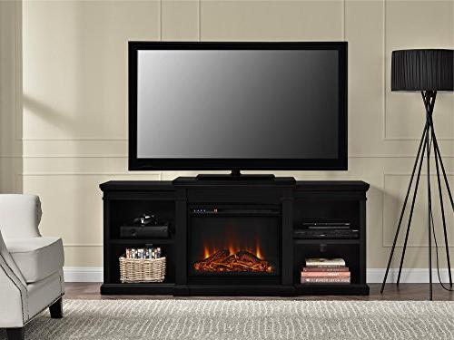 Fireplace TV for TVs up Black