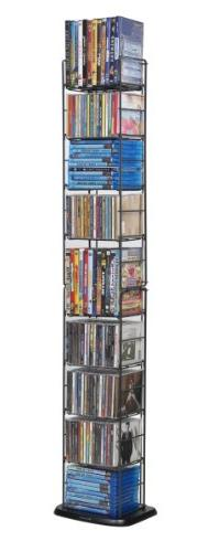 Atlantic Folding Wire Media Rack - Heavy Gauge Steel, Holds