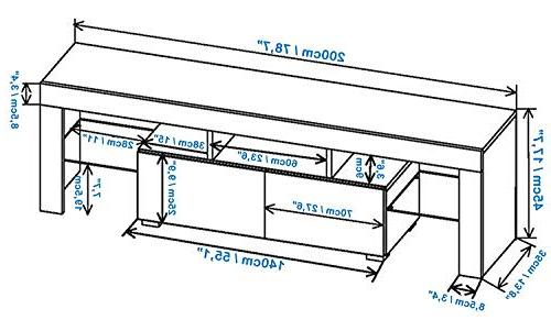 Concept Muebles TV Stand Milano LED Cabinet/Living Room Furniture/Tv Cabinet up to Screens/High for Living