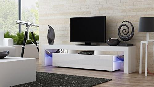 Concept TV Stand Milano 200 Modern LED Furniture/Tv fit up to Screens/High for Modern Living