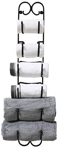 DecoBros Wall Mount Multi-Purpose Towel/Wine/Hat Rack, Bronz