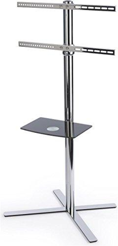 Displays2go STSF411WSV Height Adjustable TV Floor Stand, Fit