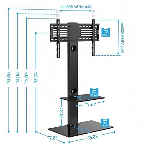 FITUEYES with Mount Two Shelves for to Sony/Samsung/LG/Vizio TT207001MB