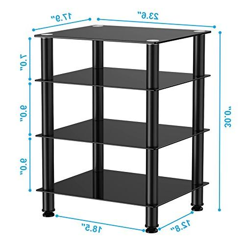 Fitueyes Audio/Video Glass Shelf /Apple Tv/xbox AS406001GB