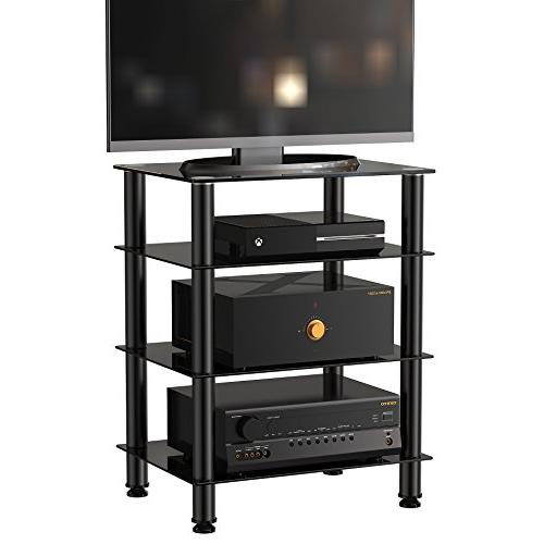 Fitueyes 4-tier Media Stand Audio/Video Component Tv/xbox AS406001GB