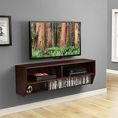 Floating Wall Mount Media Center Shelf CD Entertainment Cons
