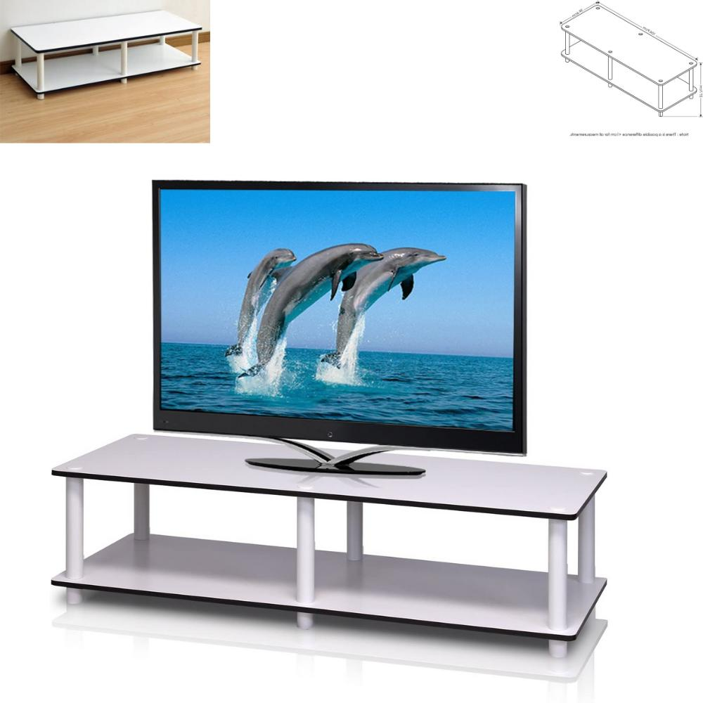 Furinno 11175WH/WH Just No Tools Wide TV Stand, White