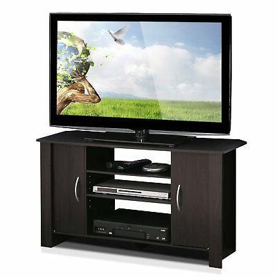 Furinno 14055EX Econ TV Stand Entertainment Center, Espresso
