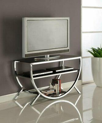 Kings Brand Furniture Metal with Glass Top & Shelves TV Stan