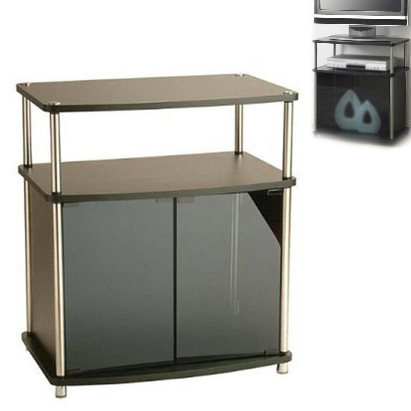 """Mainstays TV Cart for Flat Screen TVs up to 26"""", True Black"""
