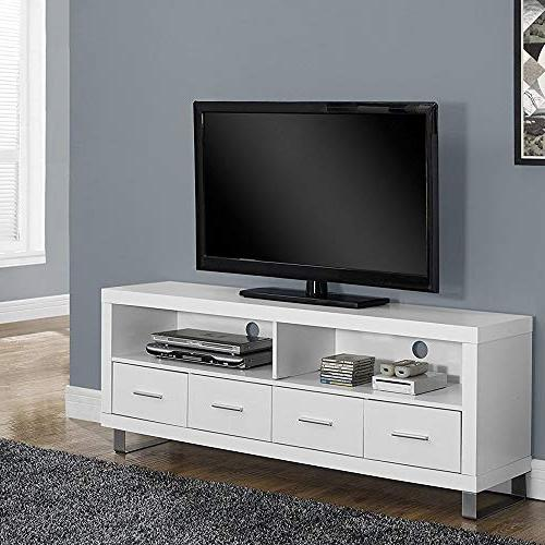 Monarch I TV Drawers, White,