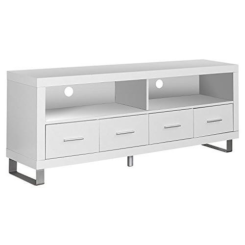Monarch Specialties I TV Console with 4 Drawers,