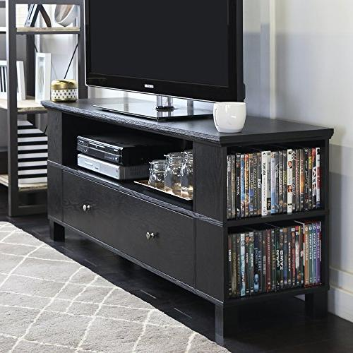 New 59 Inch Wide Black Television Stand with Front & Side St
