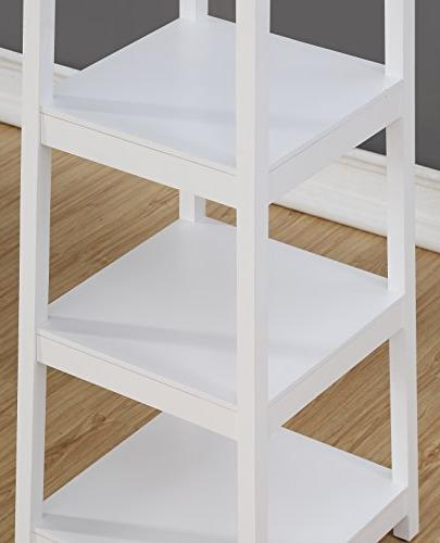 Roundhill Rack with 3-Tier Shelves, white