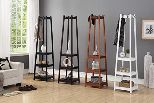 Roundhill Vassen Coat Rack 3-Tier Shelves,