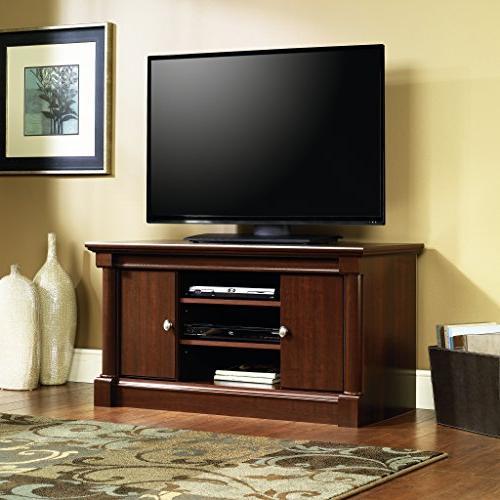 "Sauder 411864 Palladia Panel TV For up to 50"", Cherry finish"