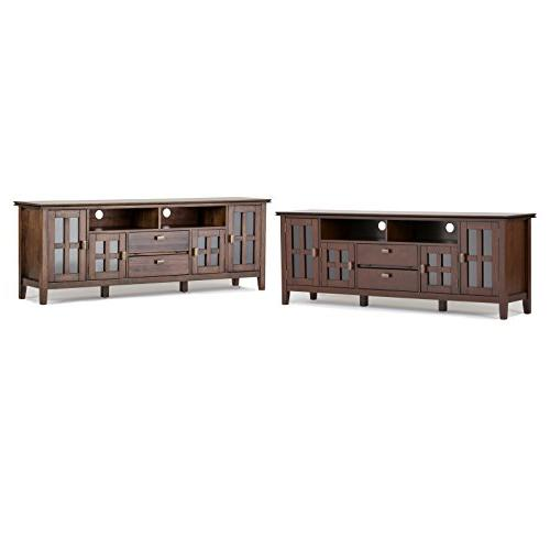 Simpli Home Wood TV Stand, Natural