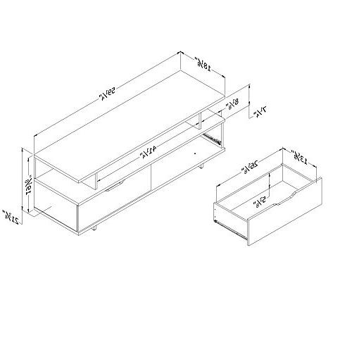 Stand-Fits TVs 60'' Wide White