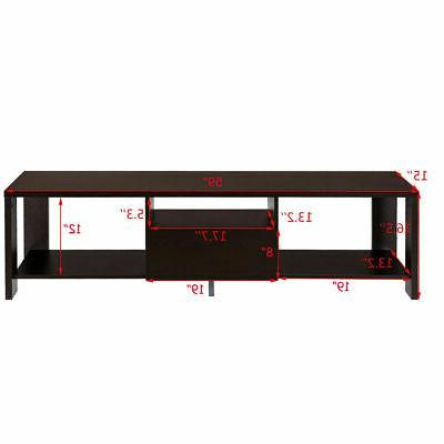 TV Media Cabinet Entertainment Center Drawer and Display Shelf