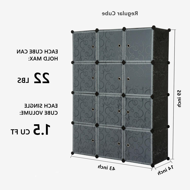 Unicoo-12 Cube Toy Organizer, Bookcase, Cabinet,