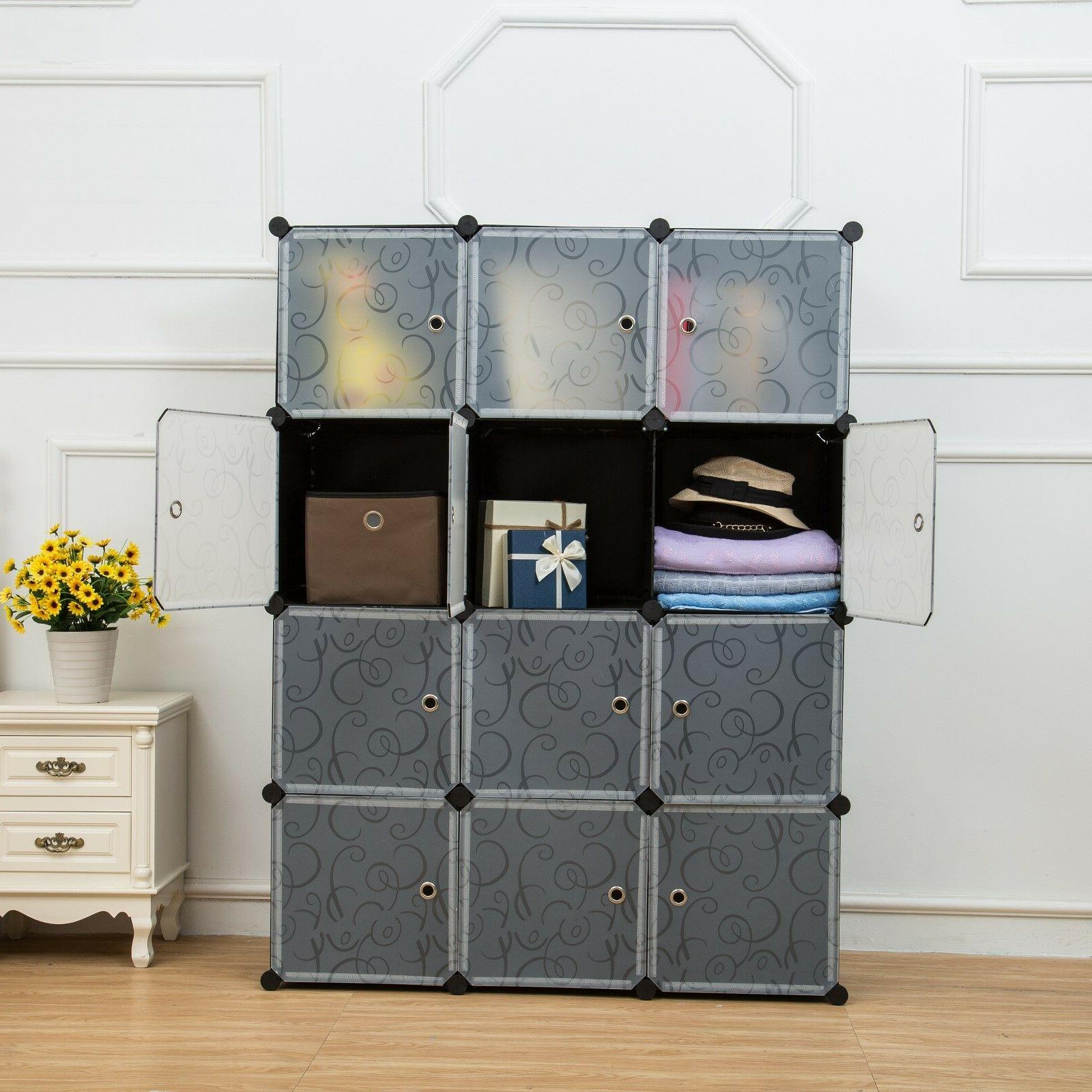 Unicoo-12 Cube Toy Organizer, Bookcase, Storage Cabinet, War
