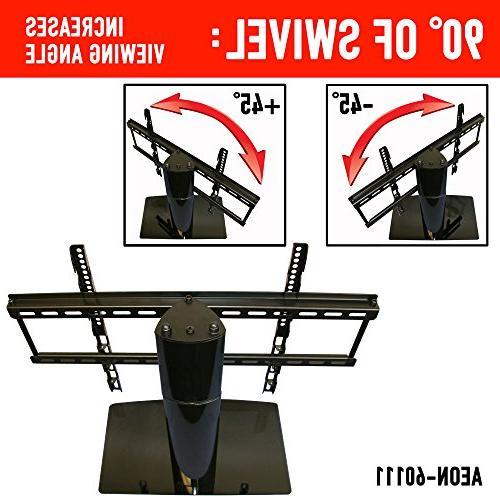 Universal Stand TV swivel height adjustment