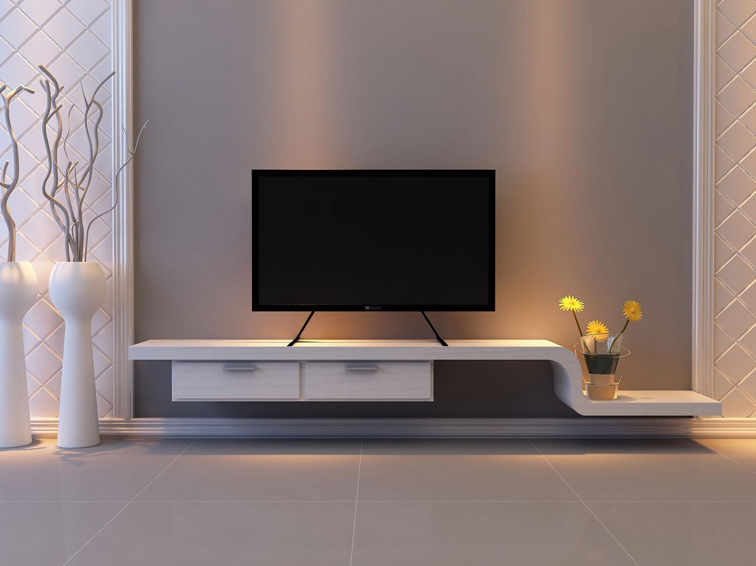 """WALI Universal LCD Flat Screen Table Stand / Base 22"""" to 65"""""""