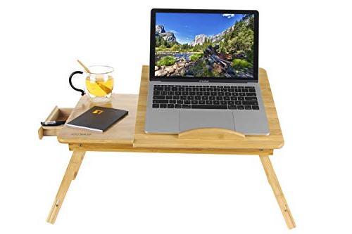 adjustable laptop desk table bamboo
